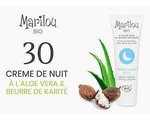 crème nuit Marilou Bio