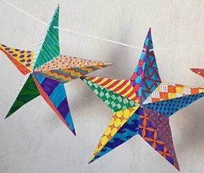 étoiles 3D fait maison