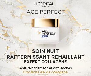 soin Nuit Age Perfect Expert Collagène Raffermissant Remaillant de L'Oréal Paris