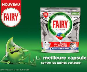 capsules lave vaisselle Fairy