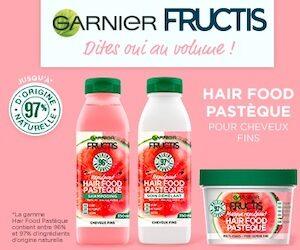 routine garner fructis hair food pastèque