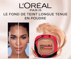 Fond de Teint Longue Tenue en Poudre Infaillible de L'Oréal Paris
