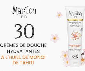 Crème de Douche Hydratante à l'Huile de Monoï de Tahiti de Marilou bio