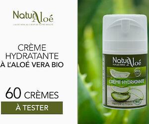 Crèmes hydratantes visage bio de Naturaloé