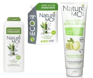 shampooing et crème lavante Naturé Moi