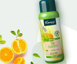 bain moussant be happy kneipp