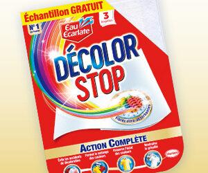 Echantillon gratuit des lingette decolor stop