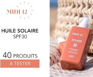 huile solaire spf 30 midi 12