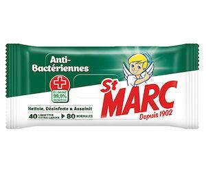 lingettes antibactériennes St Marc