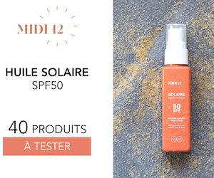 huile solaire spf 50 midi 12