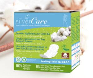 serviettes coton bio silvercare