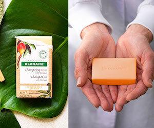 shampoing solide à la mangue Klorane