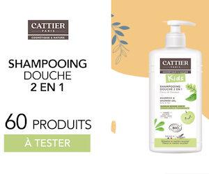 shampoing kids 2 en 1 Cattier